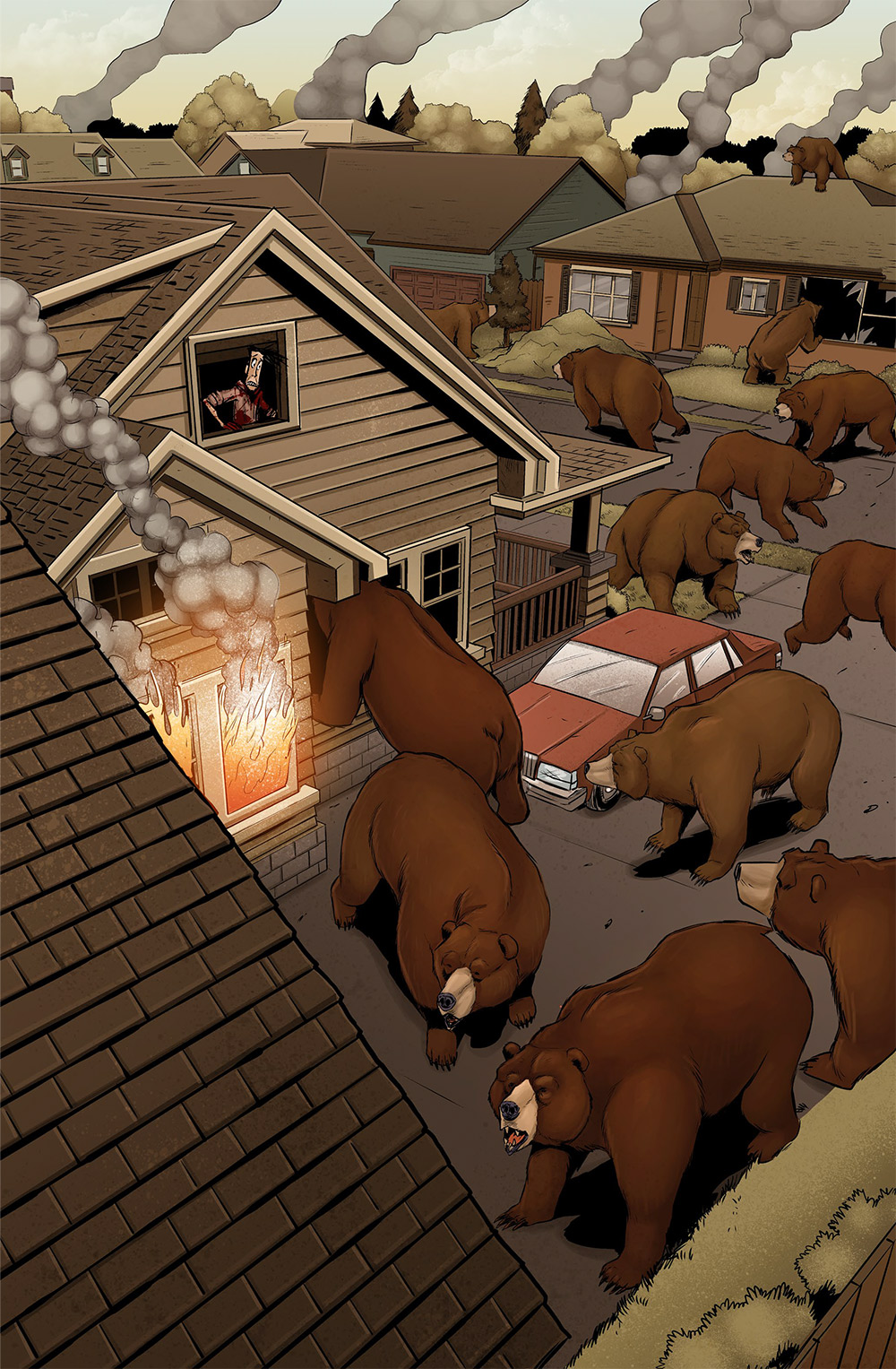 I want to make a side scrolling brawler called Streets of Bears where you walk around and fight bears with your fists.